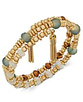 INC International Concepts Gold-Tone 2-Pc. Set Multi-Bead Stretch Bracelets, Created for Macy's
