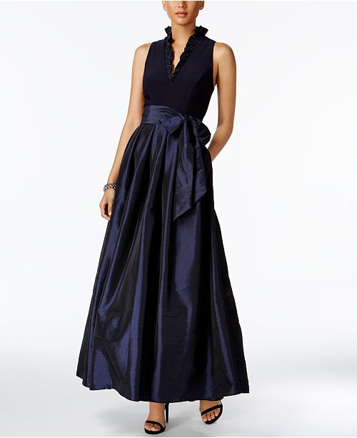 Jessica Howard Ruffled A Line Gown Amp Reviews Dresses