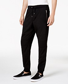 INC Men's Big & Tall Moto Knit Jogger Pants, Created for Macy's