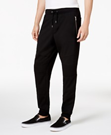 I.N.C. Men's Moto Knit Jogger Pants, Created for Macy's