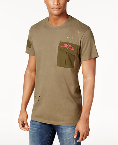 American Rag Men's Ripped T-Shirt, Created for Macy's