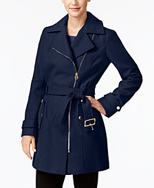 MICHAEL Michael Kors Asymmetrical Belted Coat