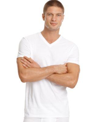 Calvin Klein Men's Underwear, Big and Tall Classic V-Neck T Shirt ...