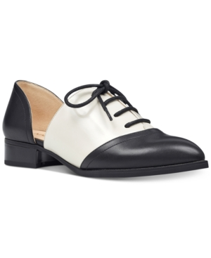 Vintage Style Shoes, Vintage Inspired Shoes Nine West Nuvima Oxford Flats Womens Shoes $79.00 AT vintagedancer.com