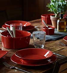 Lastra Red Dinnerware Collection