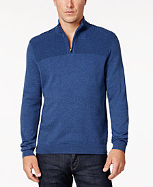 Alfani Men's Quarter-Zip Knit Sweater, Created for Macy's