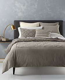 CLOSEOUT! Hotel Collection Arabesque Cotton King Duvet Cover, Created for Macy's