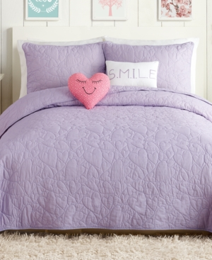 Urban Playground Heart 5Pc FullQueen Quilt Set Bedding