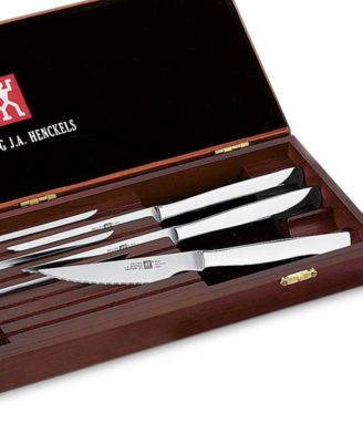 zwilling ja henckels twin gourmet 8piece stainless steak knife set - Henckels Knife Set