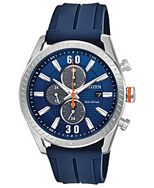 Citizen Drive from Citizen Eco-Drive Men's Blue Polyurethane Strap Watch 43mm