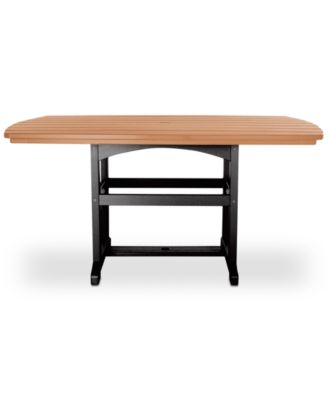 pawleys island large outdoor dining table quick ship