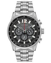 be11ebc35cd Citizen Eco-Drive Men s Chronograph Nighthawk Stainless Steel Bracelet Watch  43mm