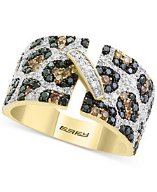 Confetti by EFFY® Diamond Animal Print Statement Ring (1-1/4 ct. t.w.) in 14k Gold