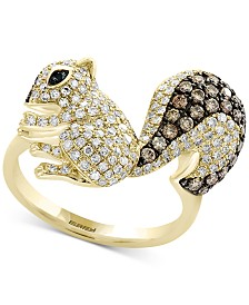 Confetti by EFFY® Diamond Squirrel Ring (1-1/5 ct. t.w.) in 14k Gold