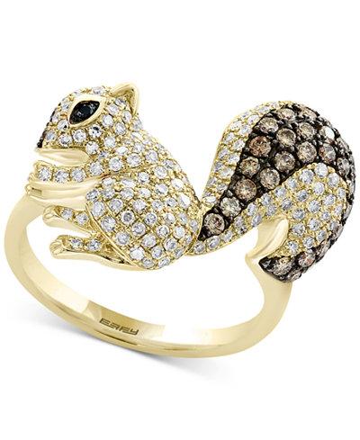 Confetti By Effy 174 Diamond Squirrel Ring 1 1 5 Ct T W