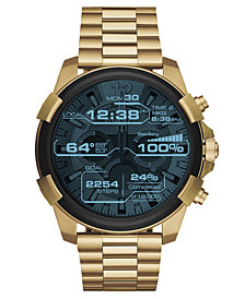 Diesel ON Men's Full Guard Gold-Tone Stainless Steel Bracelet Smart Watch 48mm