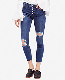 Free People Destroyed Reagan Raw Jean