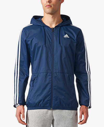 adidas Men's Three-Stripe Windbreaker