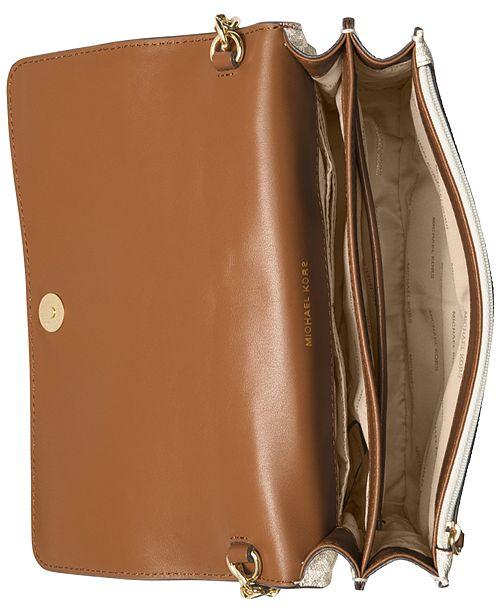 a99e4b639b53 Michael Kors Signature Large Gusset Crossbody & Reviews - Handbags ...