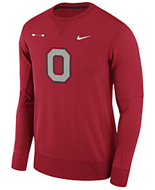 Nike Men's Ohio State Buckeyes Therma-Fit Crew Sweatshirt