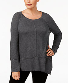 Style & Co Plus Size Seamed High-Low Top, Created for Macy's