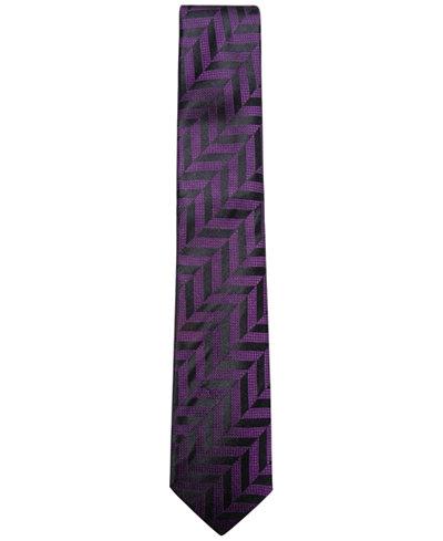 Alfani Men's Geometric Silk Skinny Tie, Created for Macy's