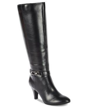 Karen Scott Hulah Wide-Calf Dress Boots, Created for Macy