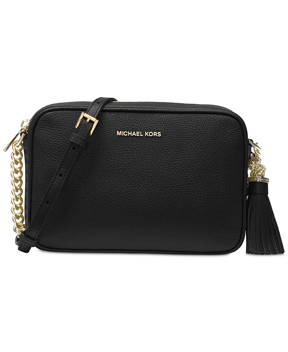 Michael Kors Ginny Pebble Leather Camera Bag   Reviews - Handbags ... f0710123e52f7