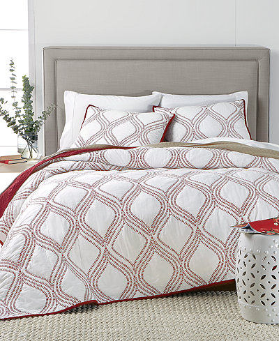 CLOSEOUT! Martha Stewart Collection Gramercy Gate Reversible Full/Queen Quilt, Created for Macy's