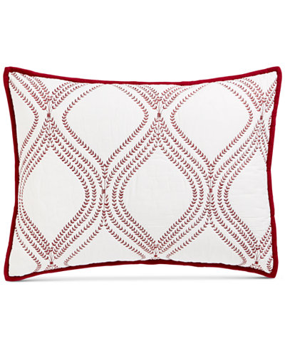 CLOSEOUT! Martha Stewart Collection Gramercy Gate Quilted Standard Sham, Created for Macy's