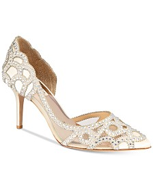 Badgley Mischka Marissa Embellished Evening Pumps, Created For Macy's