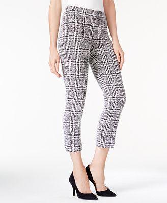 MICHAEL Michael Kors Houndstooth-Print Cropped Skinny Pants