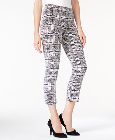 MICHAEL Michael Kors Houndstooth-Print Cropped Skinny Pants