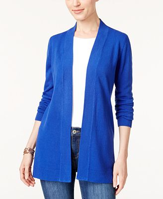 Karen Scott Open Front Cardigan Created For Macys Sweaters