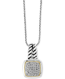 Balissima by EFFY® Diamond Cluster Pendant Necklace (1/5 ct. t.w.) in Sterling Silver & 18k Gold