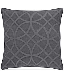 """Hotel Collection Connection Indigo 22"""" Square Decorative Pillow, Created for Macy's"""