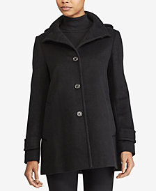 Lauren Ralph Lauren Detachable-Hood Peacoat, Created for Macy's