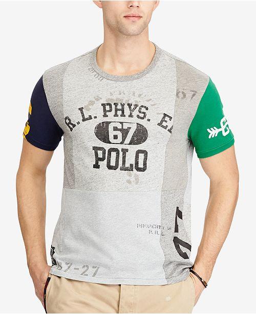 a69136fca9 Polo Ralph Lauren Men's Custom Slim Fit Graphic T-Shirt & Reviews ...