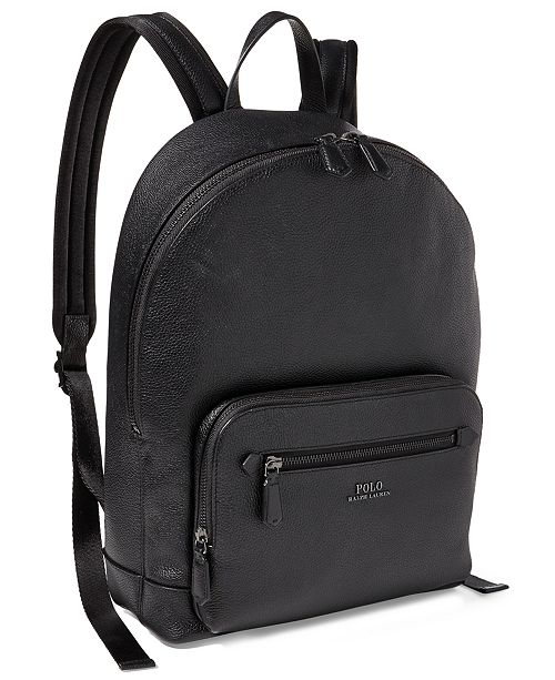f4a6168ed7fe Polo Ralph Lauren Men s Pebbled Leather Backpack   Reviews - All ...