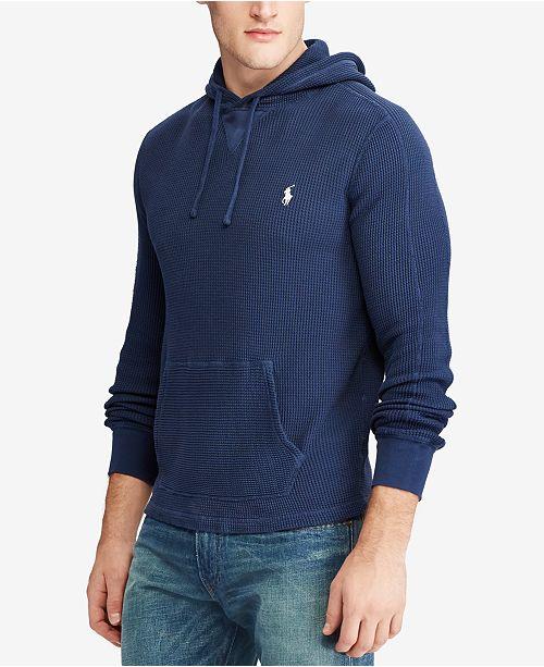 Polo Ralph Lauren Men S Waffle Knit Hoodie Sweaters Men Macy S