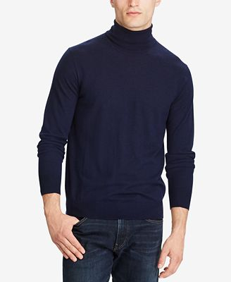 Polo Ralph Lauren Men's Regular-Fit Merino Turtleneck Sweater ...