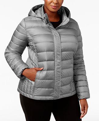 32 degrees plus size packable puffer coat - coats - women - macy's