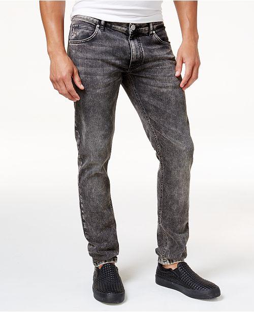 Versace Jeans Men s Faded Black Stretch Jeans - Jeans - Men - Macy s 8ed44bbd8a1