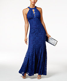Nightway Cutout Lace Gown