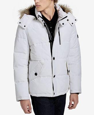 Calvin Klein Men's Faux Fur Hooded Parka