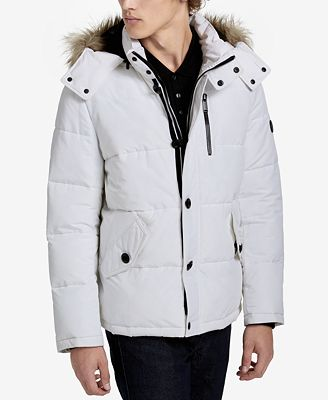 Calvin Klein Men's Faux Fur Hooded Parka - Coats & Jackets - Men ...