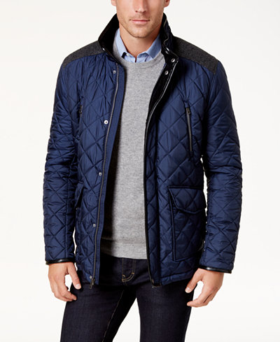 Cole Haan Men's Quilted Jacket - Coats & Jackets - Men - Macy's : quilted jacket with hood mens - Adamdwight.com