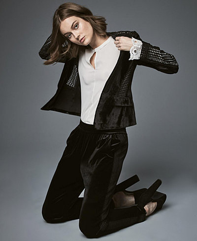 KOBI Velvet Cutout Blazer, Keyhole Top & Pants, Created for Macy's
