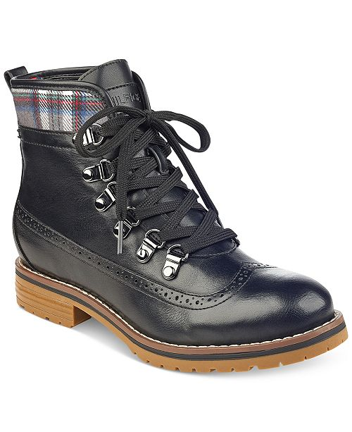 9cd073ce92b58d Tommy Hilfiger Ollia Lace-Up Booties   Reviews - Boots - Shoes ...