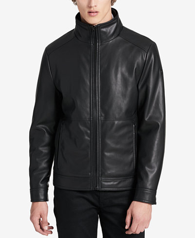 Calvin Klein Men's 3-in-1 Faux Leather Bomber Jacket, A Macy's ...